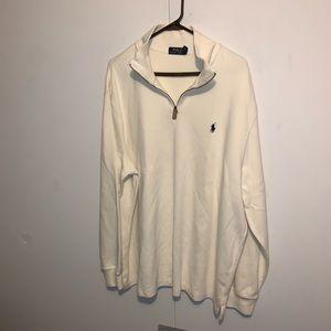 Polo by Ralph Lauren Half zip sweater offwhite